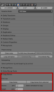 blender copy bones script panel